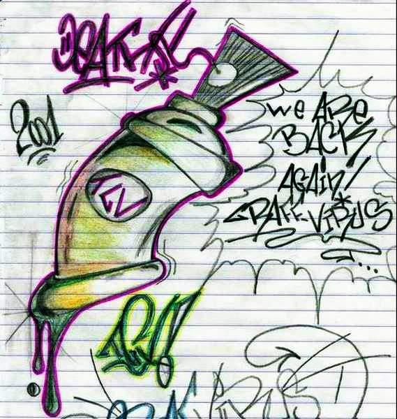 Letras en bomba graffitis imagui - Bombe de graffiti ...