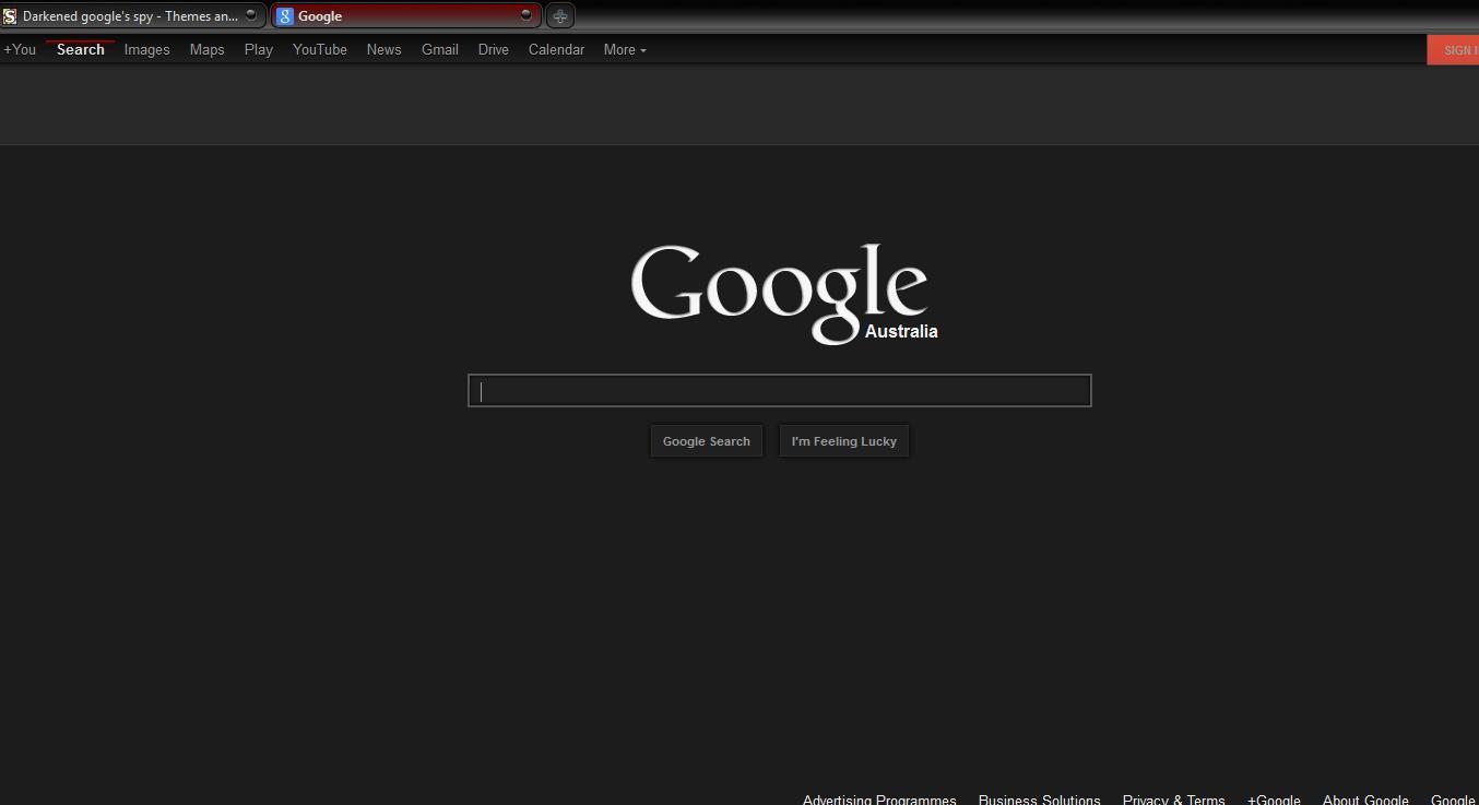 Google themes black and white - Dark Google Spy Jpg
