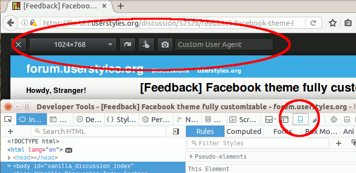Feedback] Facebook theme fully customizable — forum userstyles org